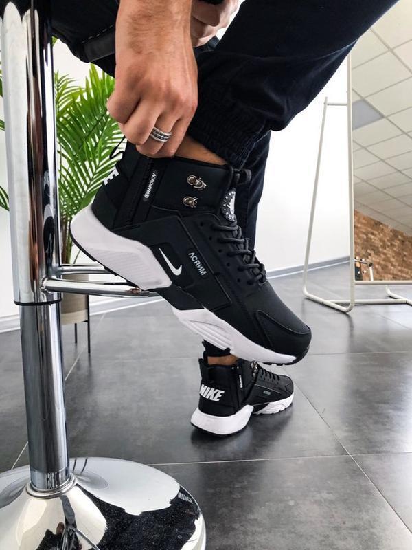 Nike huarache winter acronym black white 🤗 мужские зимние крос...