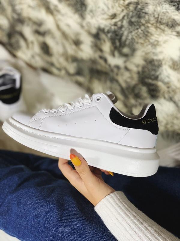 Alexander mcqueen white 🤗 женские кроссовки маквин белые весна...