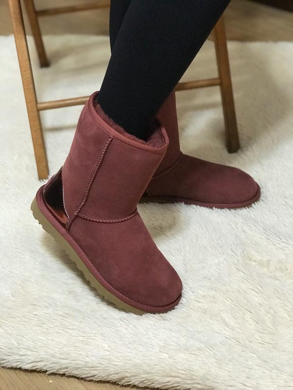 Ugg classic short ii boot metallic bordeaux🤗 натуральные женск... - Фото 6