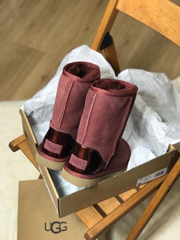 Ugg classic short ii boot metallic bordeaux🤗 натуральные женск... - Фото 8