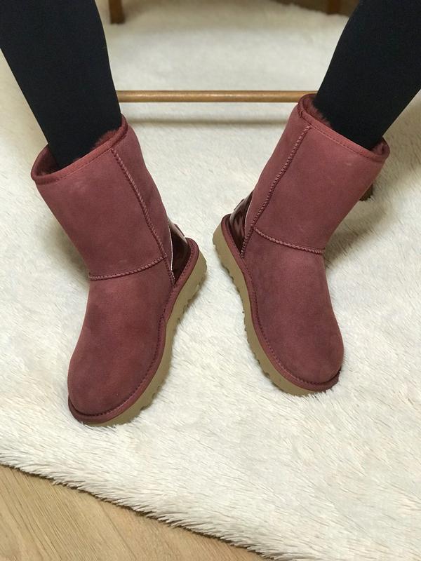 Ugg classic short ii boot metallic bordeaux🤗 натуральные женск... - Фото 9