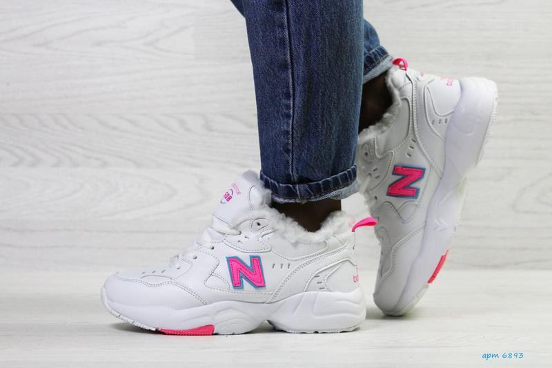 New balance 608 🤗 женские зимние кроссовки с мехом белые зима