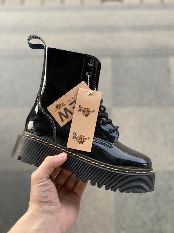Dr. martens jadon fur black 🤗 женские зимние ботинки мартинс с...