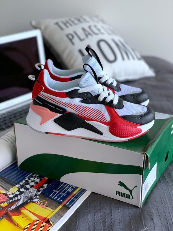 Шикарные женские кроссовки puma rs-s toys white/black/red