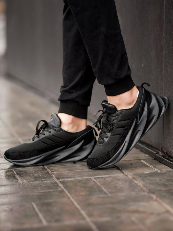 Шикарные мужские кроссовки adidas sharks black