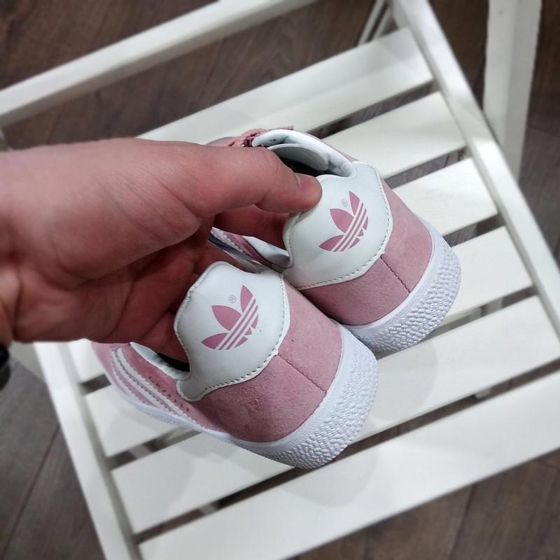 Шикарные женские кроссовки adidas gazelle pink - Фото 4