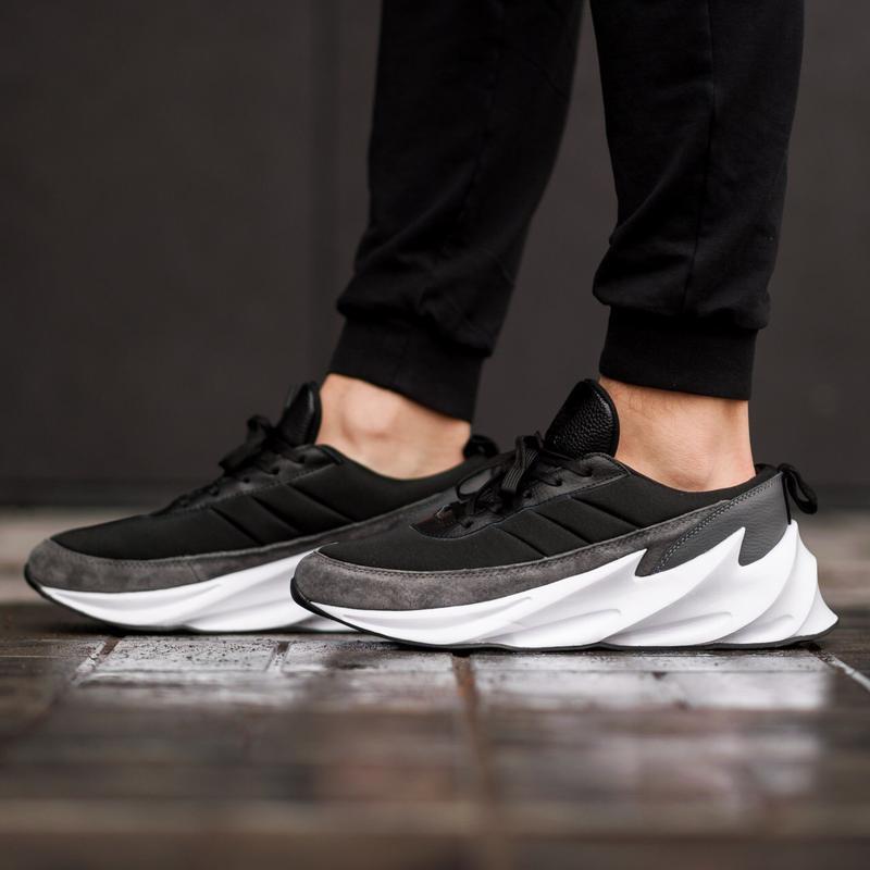 Шикарные мужские кроссовки adidas sharks grey
