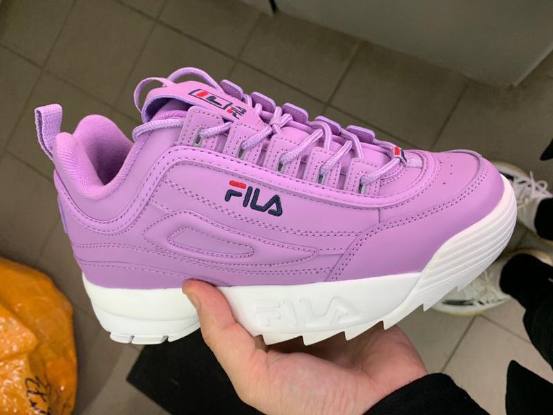 Шикарные женские кроссовки fila disruptor 2 purple