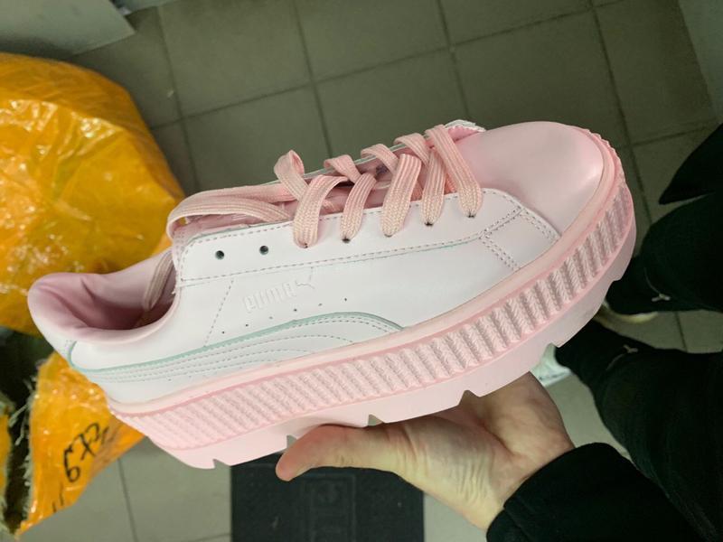 Шикарные женские кроссовки puma fenty pink - Фото 2