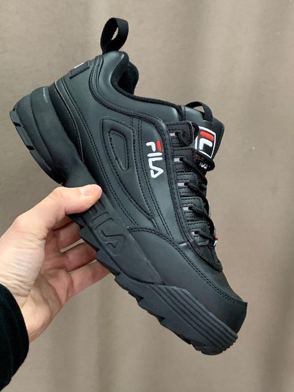 Шикарные кроссовки fila disruptor 2  black