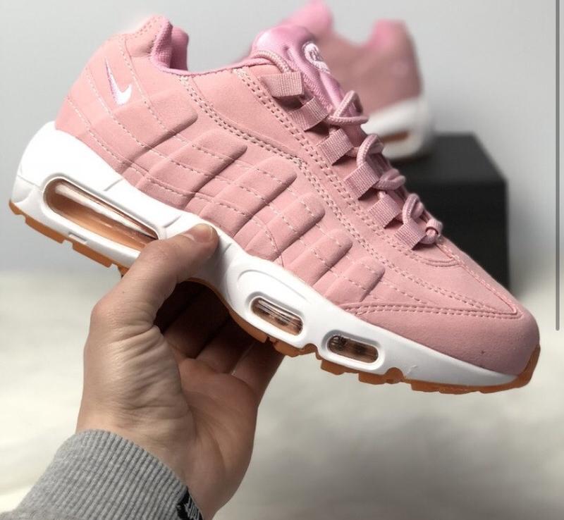 Шикарные женские кроссовки nike air max 95 pink
