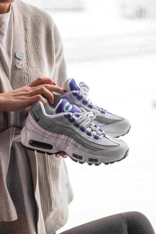 Шикарные женские кроссовки nike air max 95 white/purple