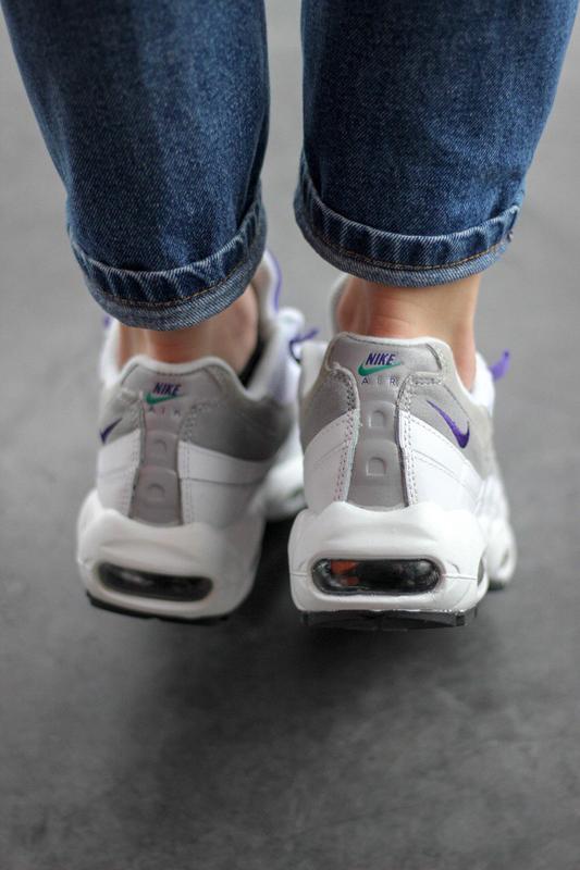 Шикарные женские кроссовки nike air max 95 white/purple - Фото 6