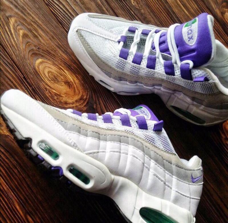 Шикарные женские кроссовки nike air max 95 white/purple - Фото 8