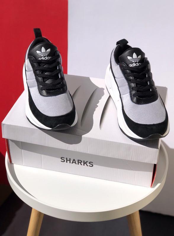 Шикарные мужские кроссовки adidas sharks - Фото 2