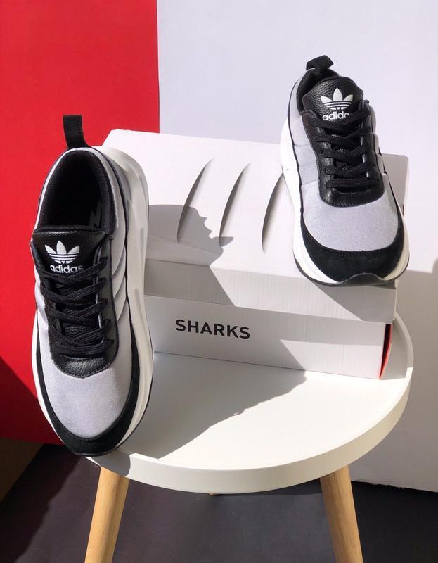 Шикарные мужские кроссовки adidas sharks - Фото 3