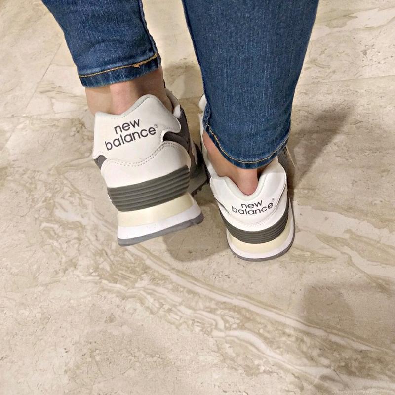 Шикарные женские кроссовки new balance 574 grey - Фото 6