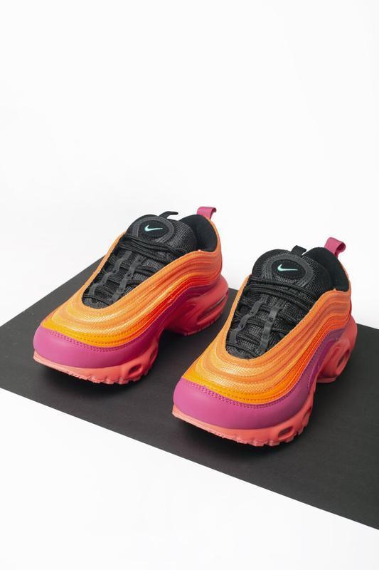Шикарные кроссовки nike air max plus 97 racer pink