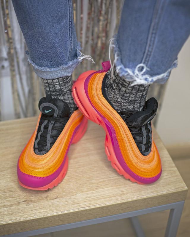 Шикарные кроссовки nike air max plus 97 racer pink - Фото 2