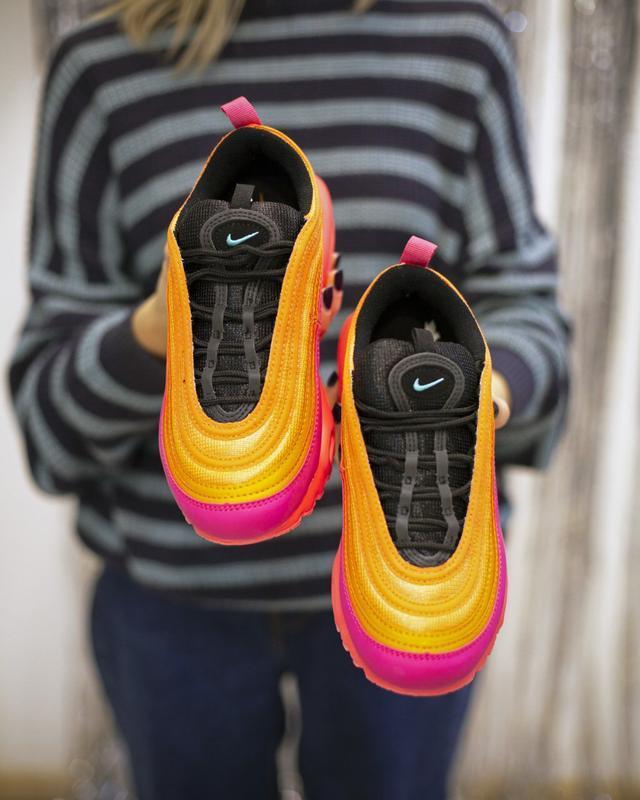 Шикарные кроссовки nike air max plus 97 racer pink - Фото 3