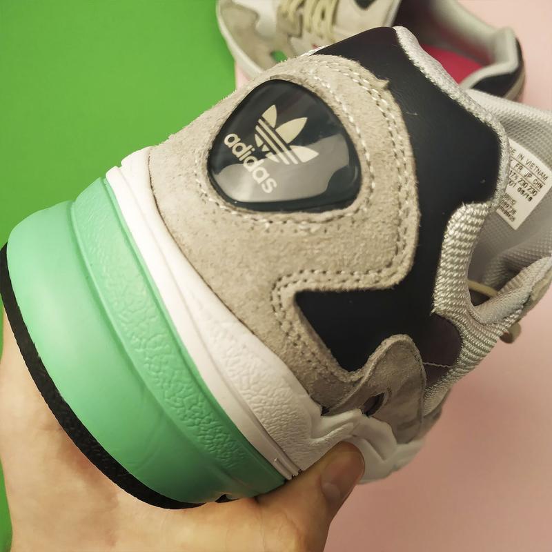 Шикарные женские кроссовки adidas falcon grey/green - Фото 3
