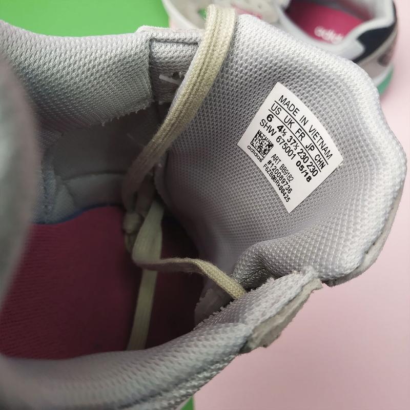 Шикарные женские кроссовки adidas falcon grey/green - Фото 7