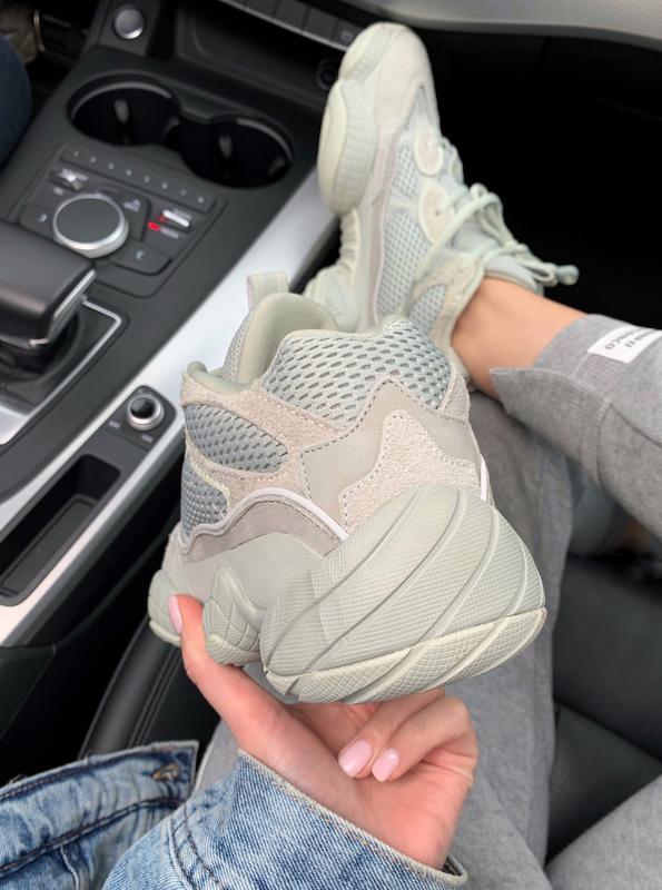 Шикарные кроссовки adidas  yeezy boost 500 salt - Фото 3