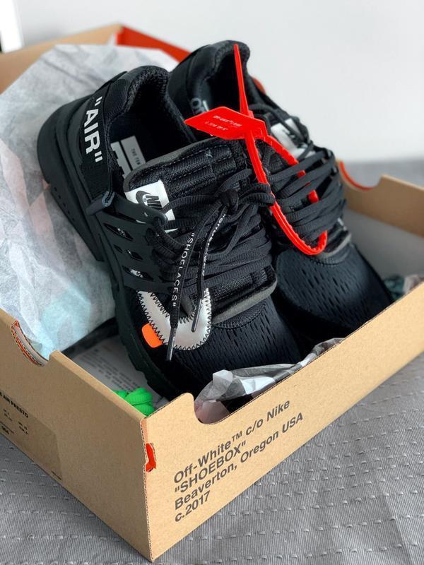 Шикарные мужские кроссовки nike air presto black