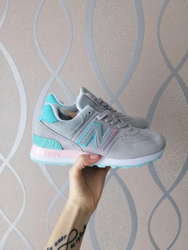 Шикарные женские кроссовки new balance 574 - Фото 2