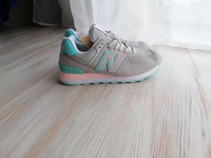Шикарные женские кроссовки new balance 574 - Фото 3