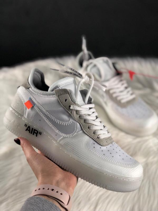 Шикарные кроссовки nike air force 1 low off white
