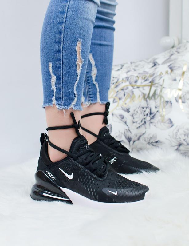 Шикарные женские кроссовки nike air max 270 black/white