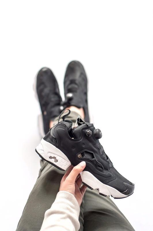 Шикарные женские кроссовки reebok insta pump black