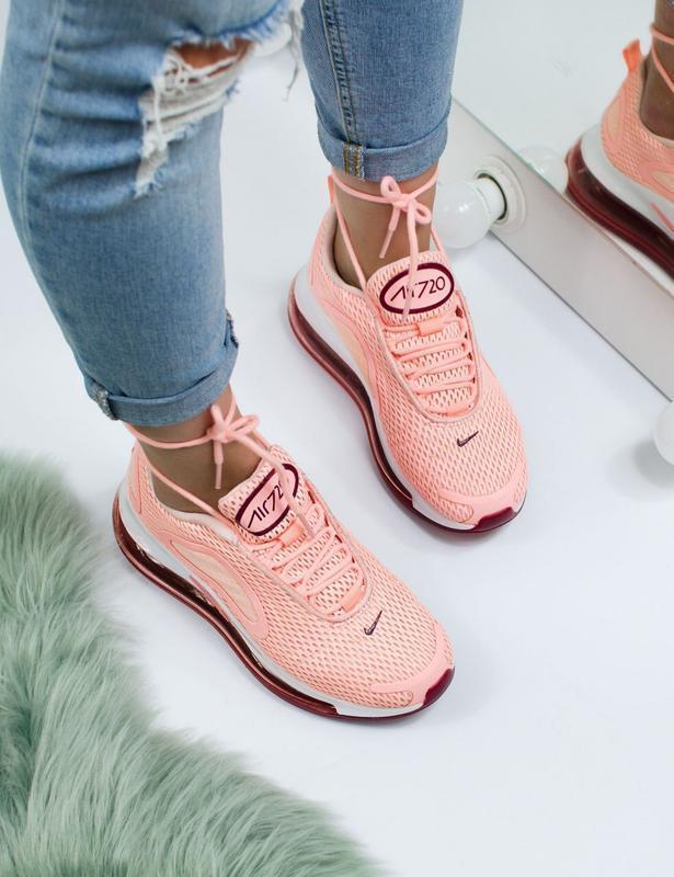 Шикарные женские кроссовки nike air max 720 pink - Фото 2
