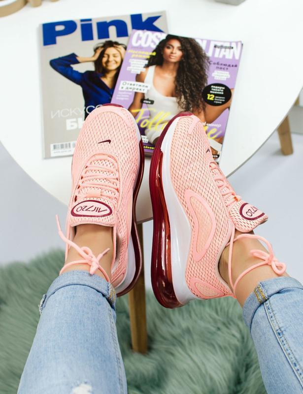 Шикарные женские кроссовки nike air max 720 pink - Фото 3
