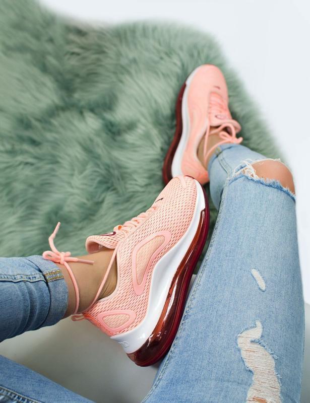 Шикарные женские кроссовки nike air max 720 pink - Фото 4