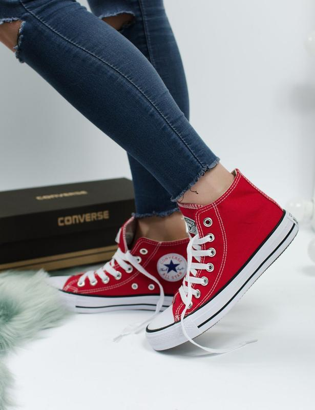Шикарные женские кеды converse all star ⭐️  red