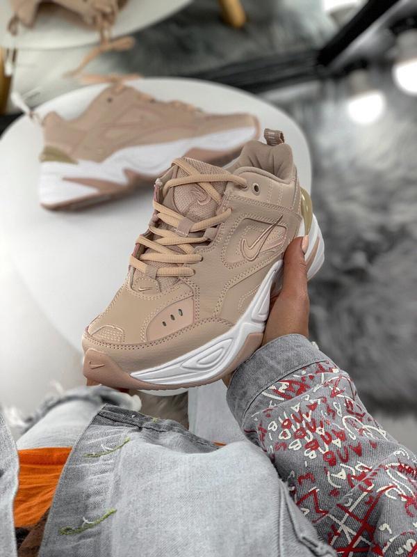 Шикарные женские кроссовки nike m2k tekno pink - Фото 2