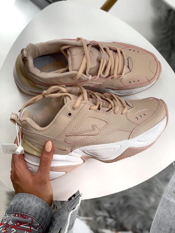 Шикарные женские кроссовки nike m2k tekno pink - Фото 4