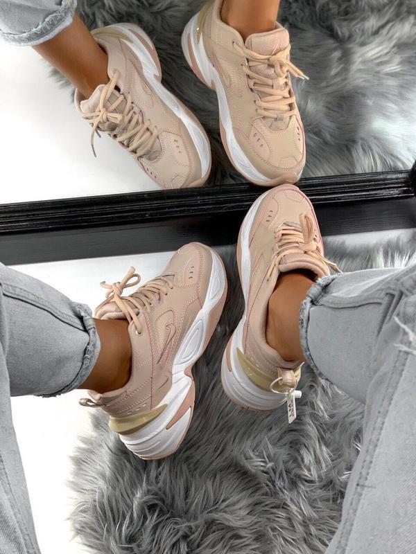 Шикарные женские кроссовки nike m2k tekno pink - Фото 6