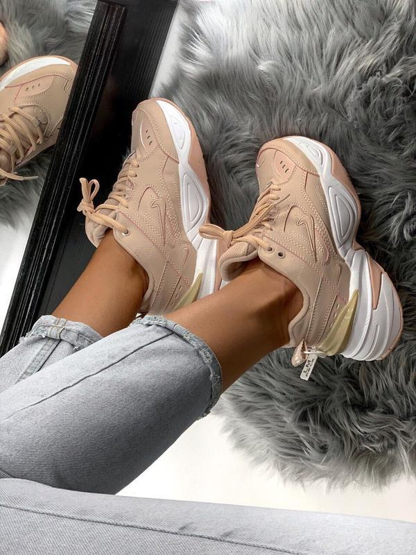 Шикарные женские кроссовки nike m2k tekno pink - Фото 7