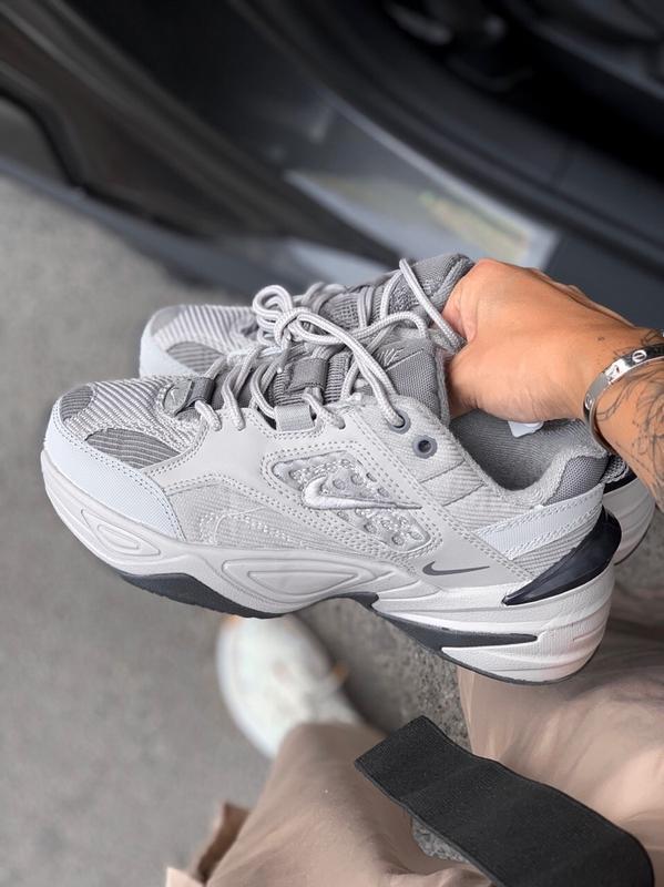 Шикарные кроссовки nike  m2k tekno gray - Фото 2