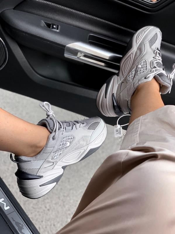 Шикарные кроссовки nike  m2k tekno gray - Фото 3