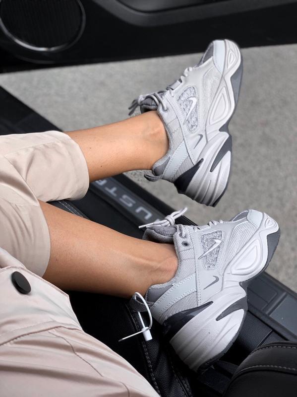 Шикарные кроссовки nike  m2k tekno gray - Фото 4