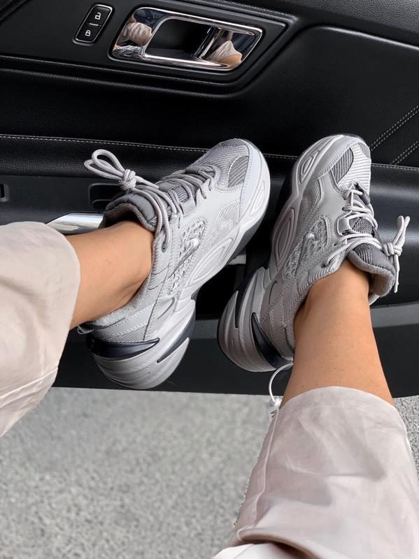 Шикарные кроссовки nike  m2k tekno gray - Фото 5