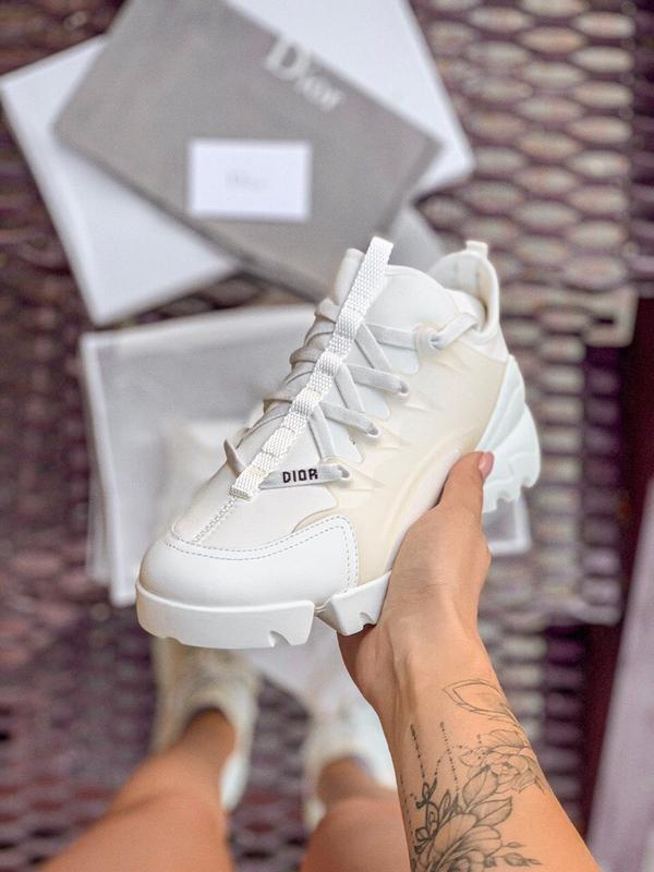 Шикарные женские кроссовки dior white - Фото 2