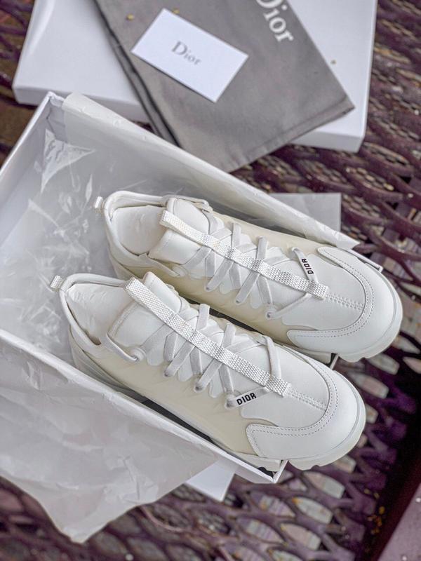 Шикарные женские кроссовки dior white - Фото 4