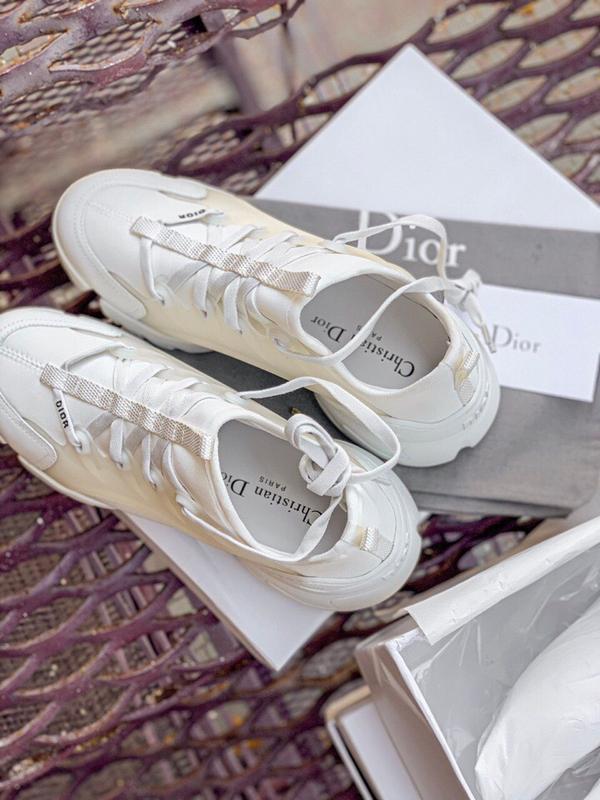 Шикарные женские кроссовки dior white - Фото 5