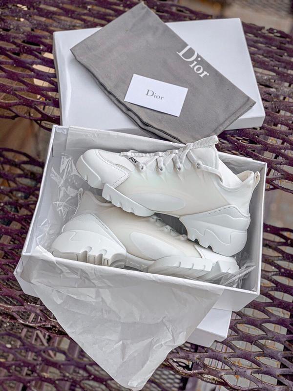 Шикарные женские кроссовки dior white - Фото 6