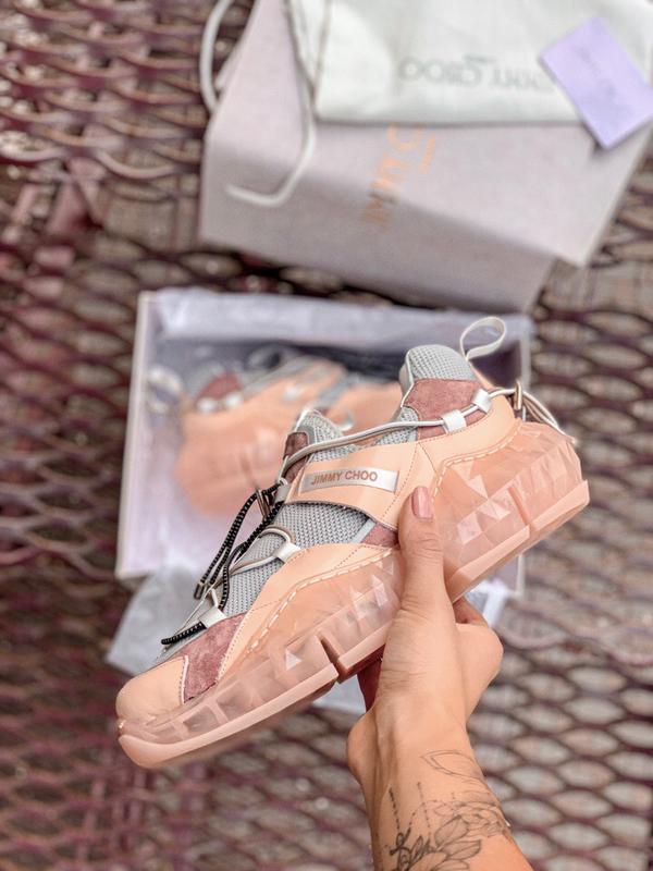 Шикарные женские кроссовки jimmy choo - Фото 4